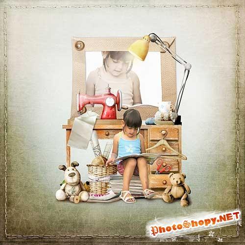 Детский скрап-комплект - Ручная работа