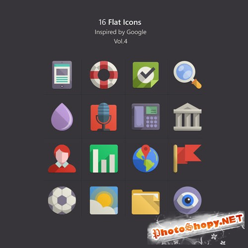 Pixeden - Flat Design Icons Set Vol4
