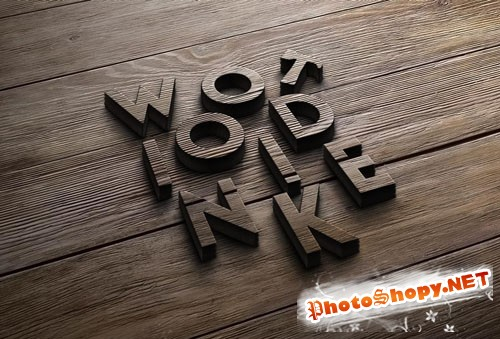 Pixeden - Wood Logo Mock-Up Template
