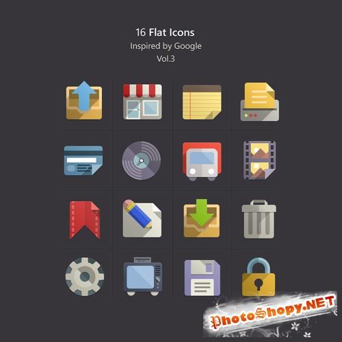 Pixeden - Flat Design Icons Set Vol3