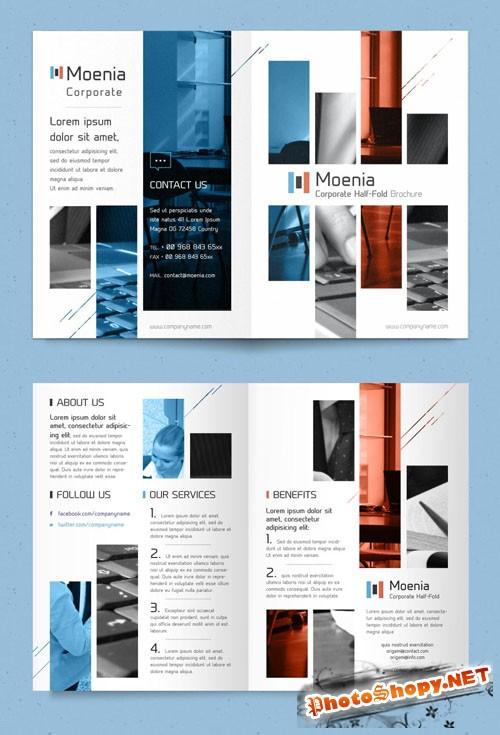 Pixeden - Moenia Bi Fold Brochure Template