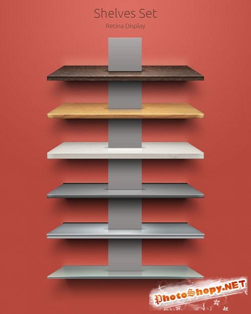 Pixeden - Psd Shelves Set
