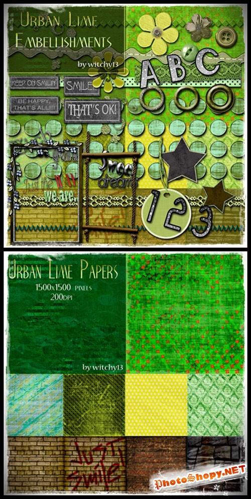 Scrap set - Urban Lime