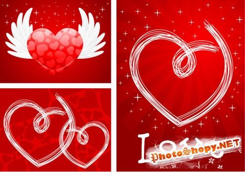 Love Cards PSD Template #3
