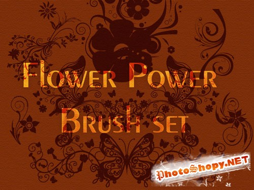 Flower Power Photoshop Brushes