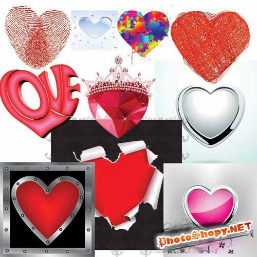 Hearts PSD Template