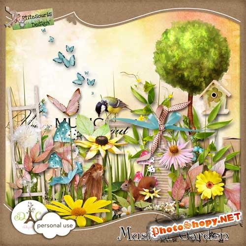 Цветочный набор для скрапбукинга - Музыкальный сад