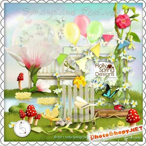 Весенний набор для скрапбукинга - Весенний фестиваль