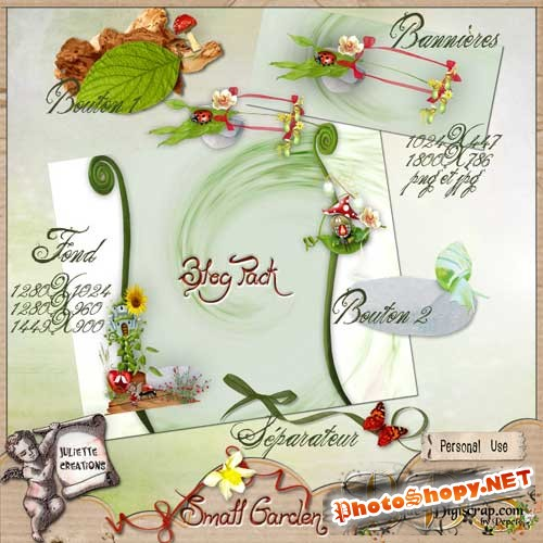 Цветочный набор для скрапбукинга - Маленький садик