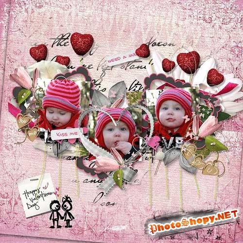 Романтический набор для скрапбукинга - Любовь