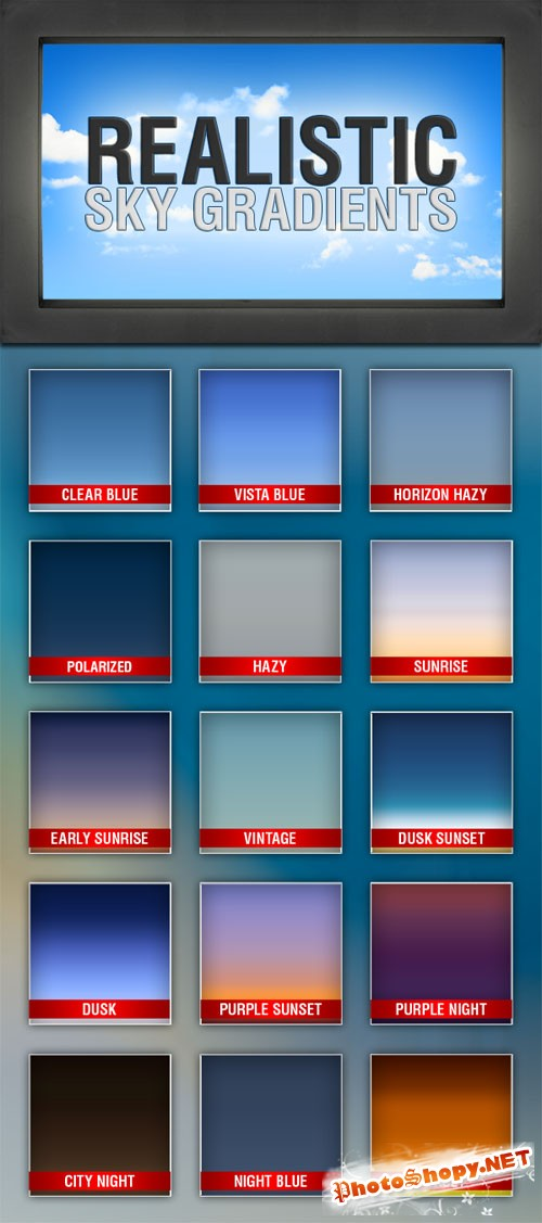15 Realistic Sky Photoshop Gradients