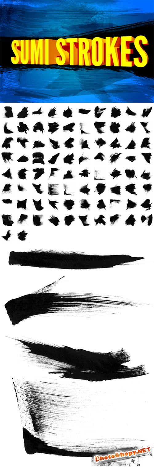 Sumi Strokes Photoshop Brushes