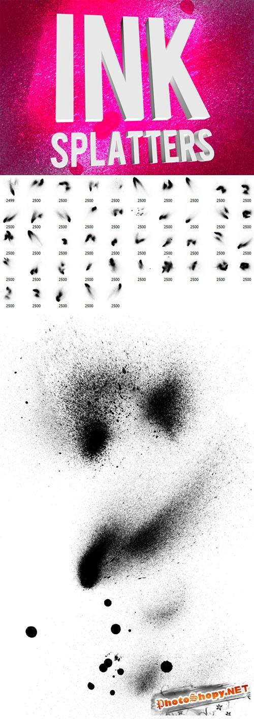 Ink Splatters Photoshop Brushes