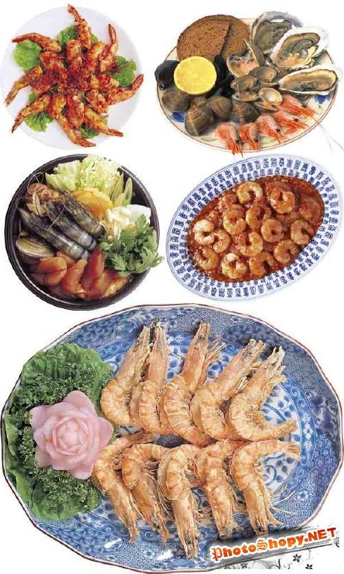 Аппетитные блюда с креветками