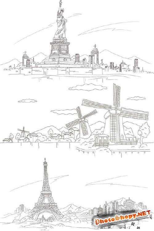 Города и страны в векторе