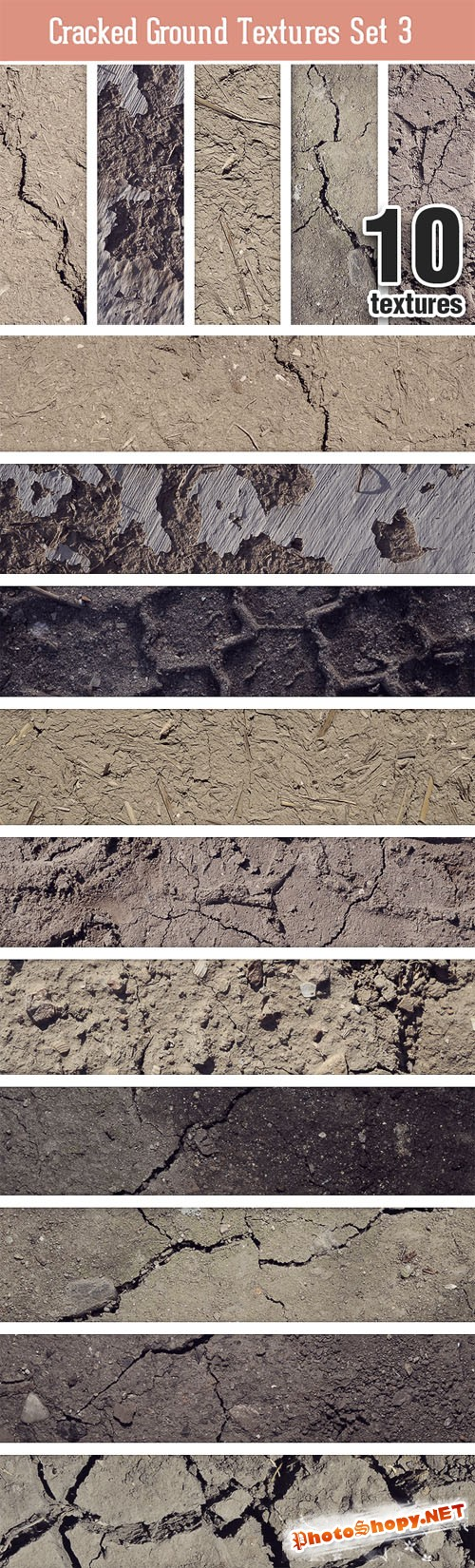 Designtnt - Cracked Ground Texture Set 3