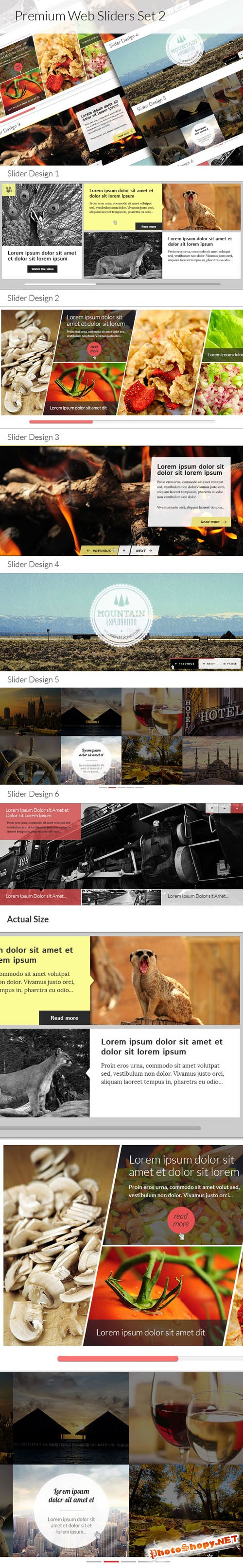 Designtnt - Premium Web Sliders Set 2