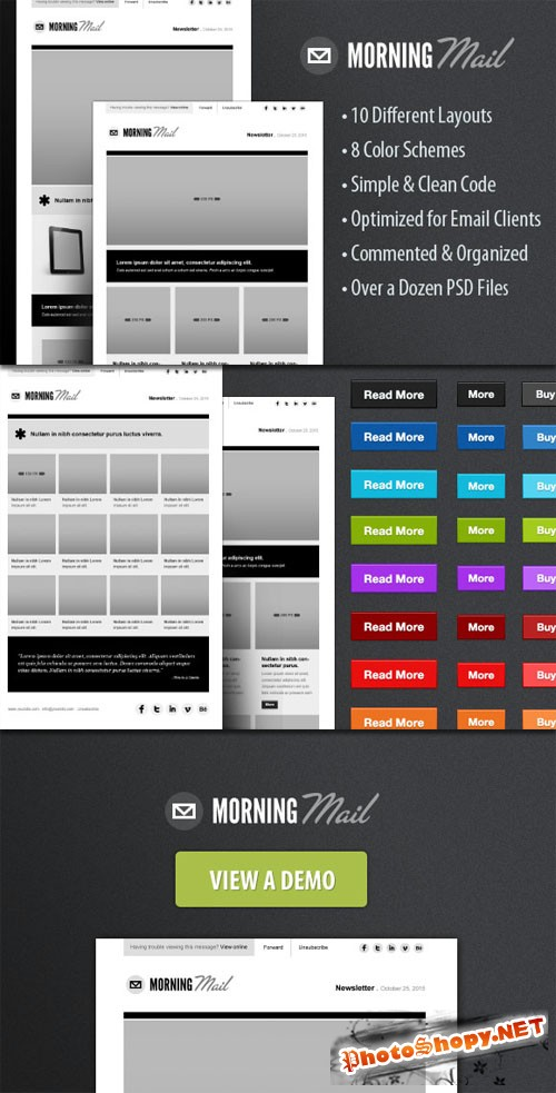 WeGraphics - Morning Mail - HTML Email Template Kit