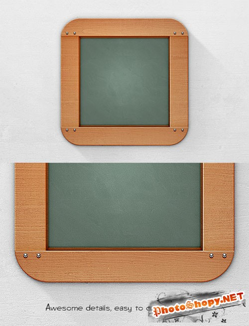 WeGraphics - Blackboard App Icon Template