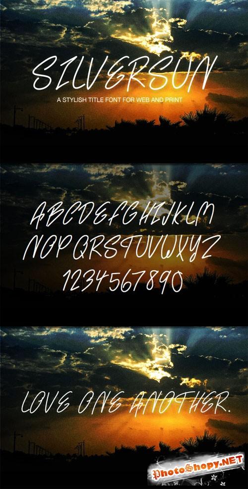 WeGraphics - SilverSun - A Handwritten Web Font