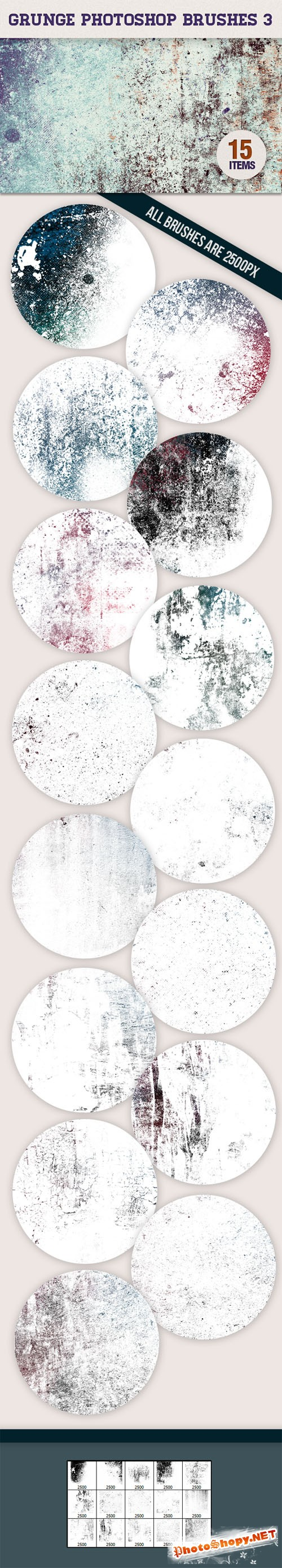 Designtnt - Grunge Photoshop Brushes Set 3