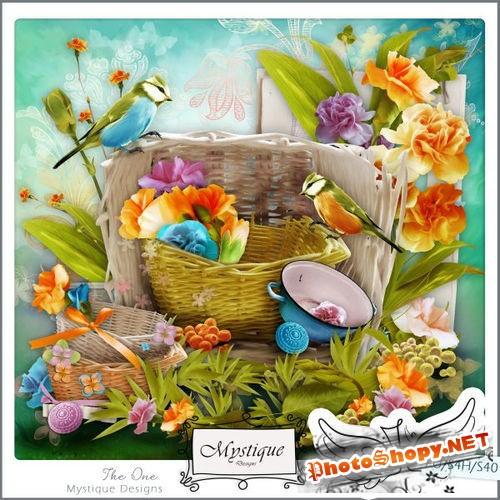 Цветочный набор для скрапбукинга - Один