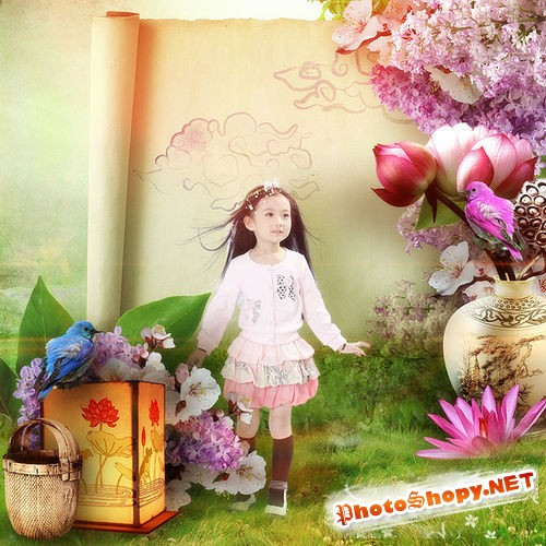 Изящный восточный набор для скрапбукинга - Магия Китая