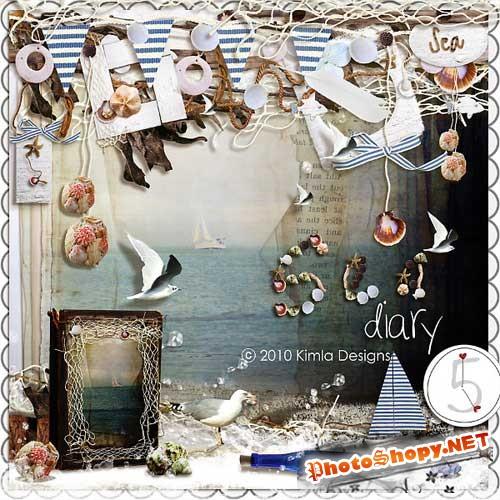 Морской скрап-набор - Морской дневник