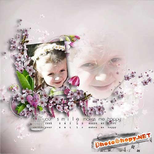 Весенний скрап-набор - Вишнёвое цветение