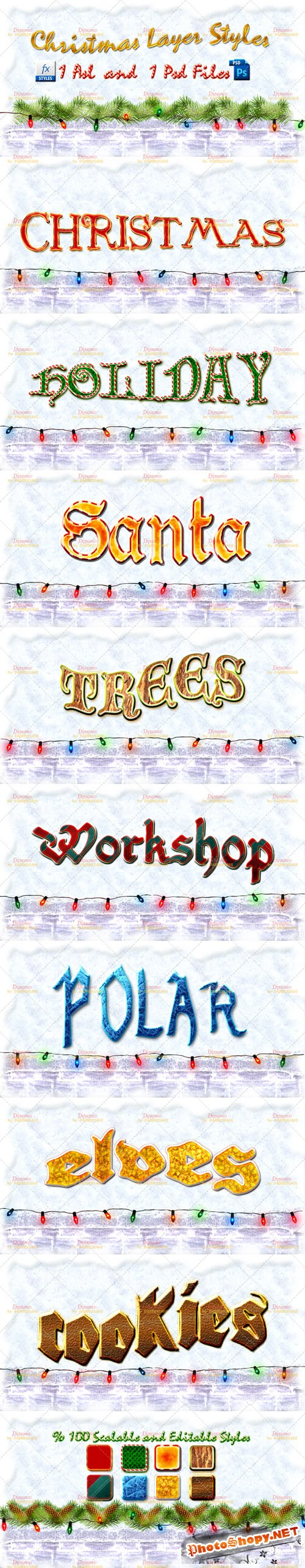 Christmas Photoshop Layer Styles