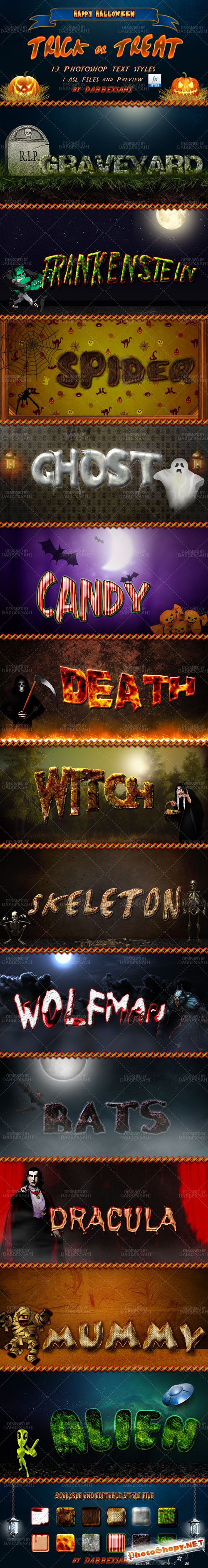 Halloween Photoshop Text Effects