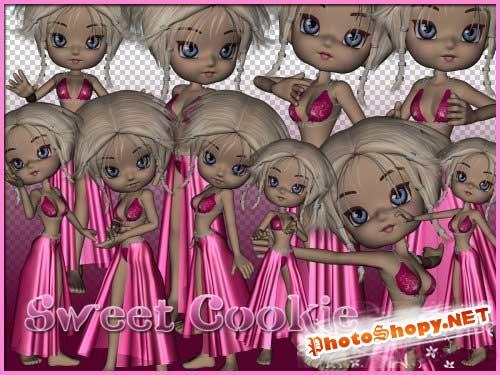 Детский набор для скрапбукинга - Сладкая куколка