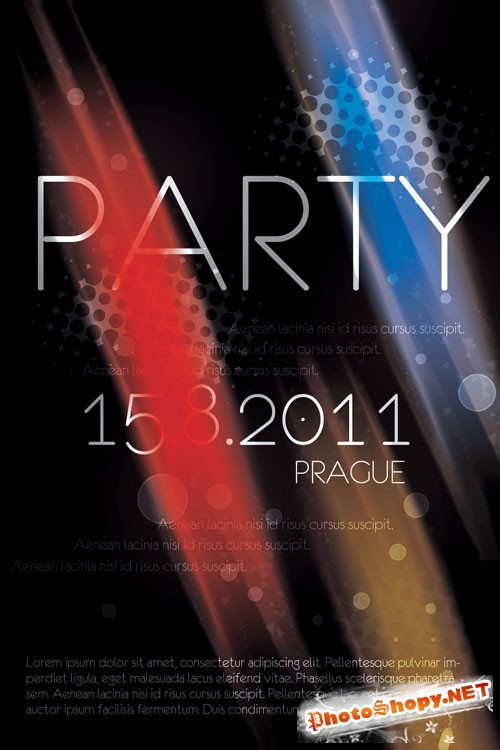 Prague Party Flyer/Poster PSD Template