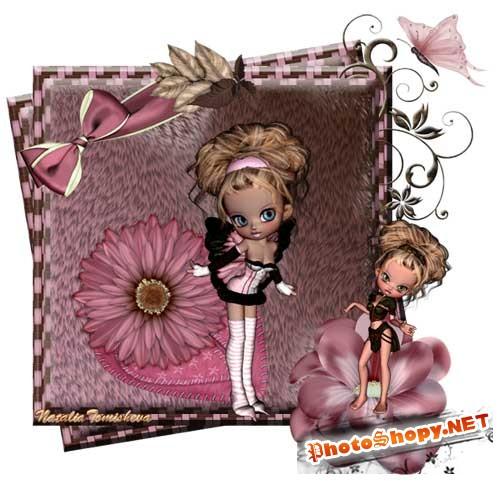 Нежный скрап-набор - Куколка