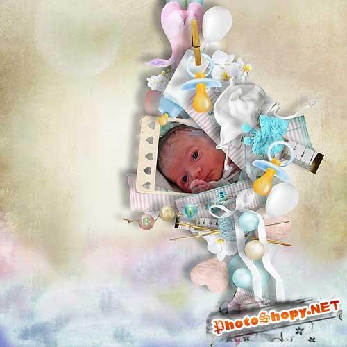 Симпатичный детский скрап-набор - Малыши