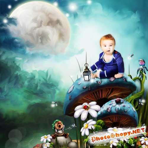 Детский волшебный скрап-набор - Обаятельный лесной гном