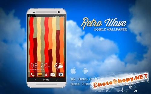 Retro Wave Mobile Wallpaper