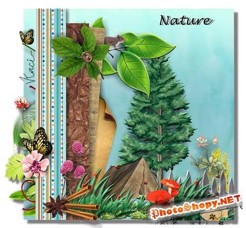Скрап-набор - Природа