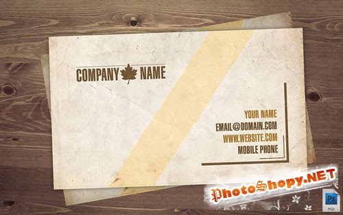 Old Business Card PSD Template REUPLOAD