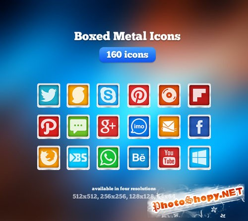Boxed Metal Icons REUPLOAD