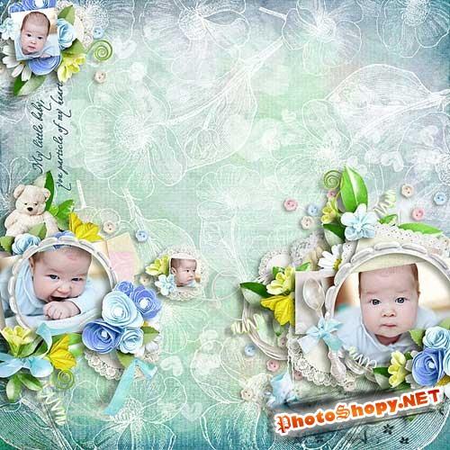 Очаровательный детский скрап-набор - Детское время