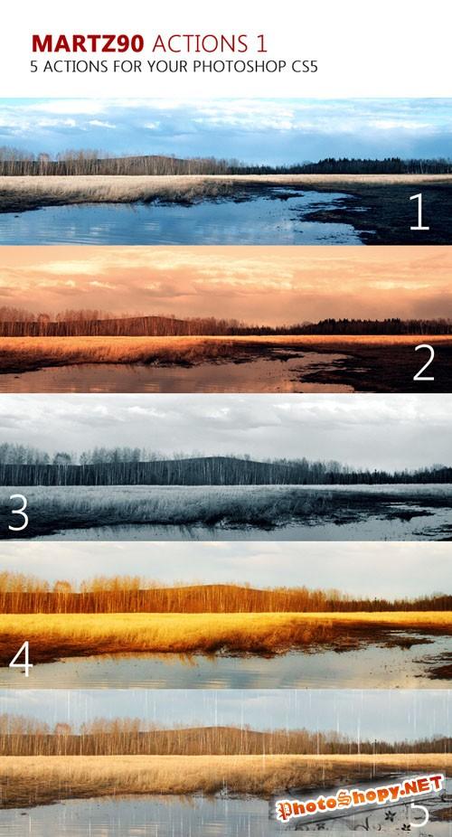 5 Premium Photoshop Actions