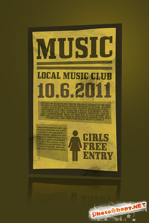 Music Flyer/Poster PSD Template