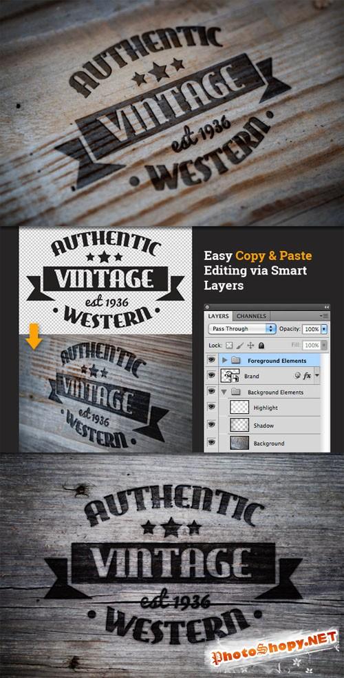 WeGraphics - Branded Western Style Logo Mockups