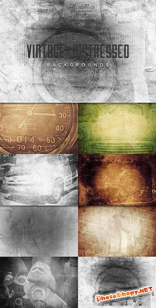 WeGraphics - Vintage Distressed Backgrounds