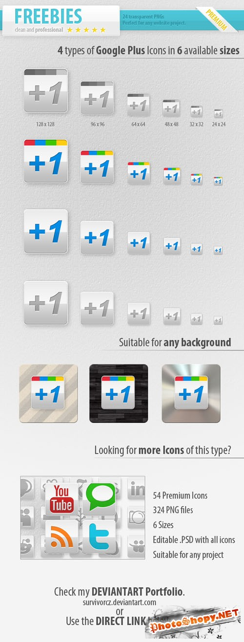 Google Plus PNG Icons