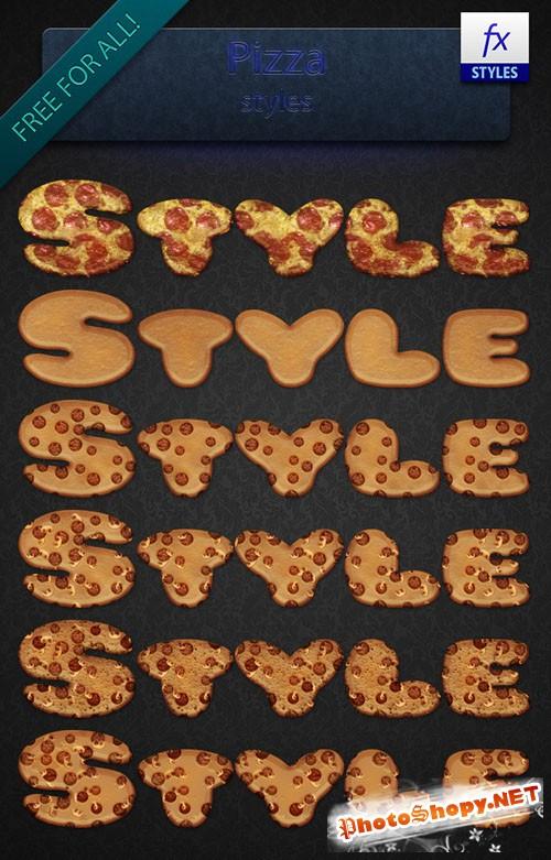 Pizza Photoshop Styles