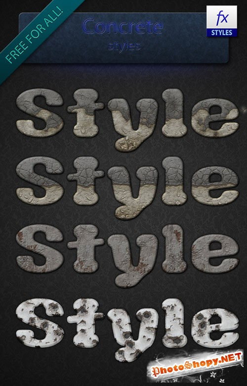 Concrete Photoshop Styles