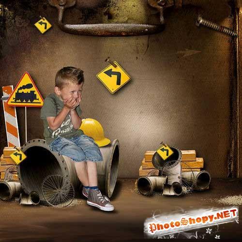 Детский набор для скрапбукинга - Мальчишеские вещи