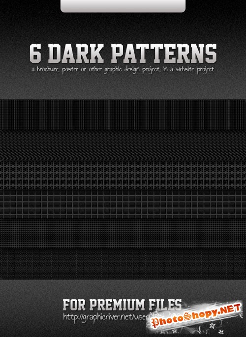 6 Dark Photoshop Patterns